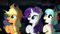 AJ, Rarity, and Coco applauding S5E16.png