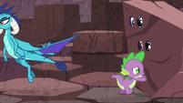 """Spike pushes """"rock""""; Ember flies away S6E5"""
