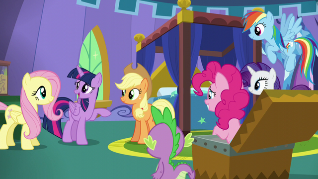 """File:Twilight """"I just can't wait 'til they walk in and see everything!"""" S5E19.png"""