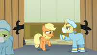 Masked Pony stops Applejack from entering theater S6E23