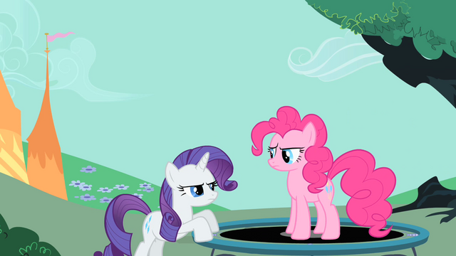 File:Pinkie Pie and Rarity staring at each other S1E26.png