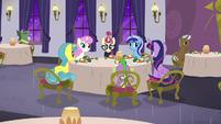 Twilight and friends nervous around Moon Dancer S5E12