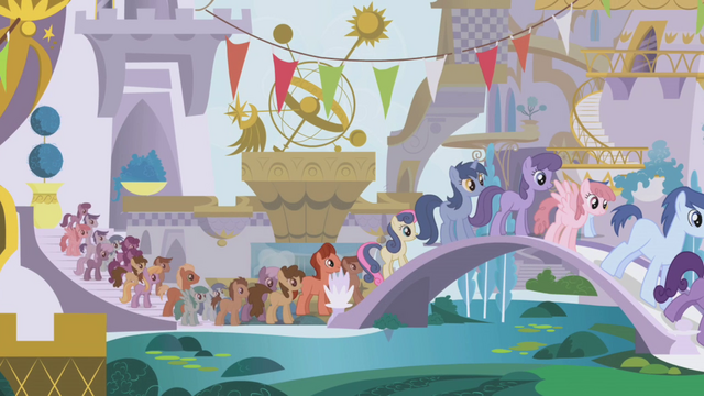 File:Everypony in line S1E3.png