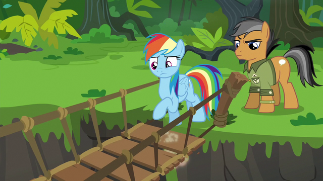 File:Rainbow Dash testing the suspension bridge S6E13.png