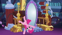 Pinkie cartwheels past the mirror EG2