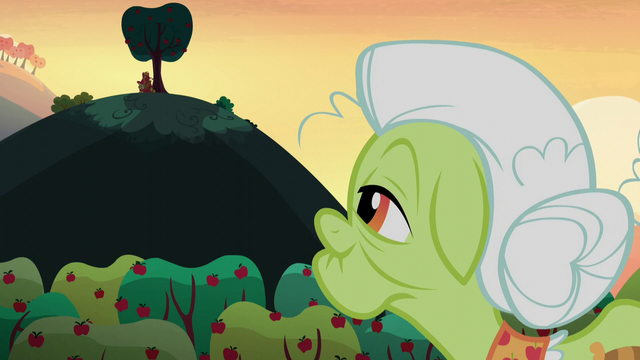 File:Granny Smith looks to Apple Bloom and Big Mac on the hill S5E17.png