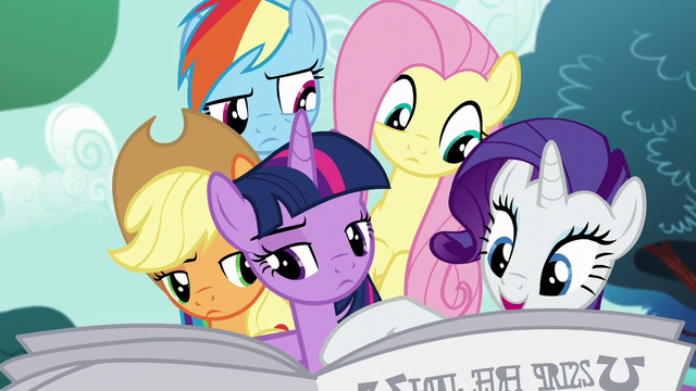 File:Rarity points out an article about Mayor Mare S5E19.png