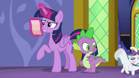 Spike watches Opalescence walk away S6E22