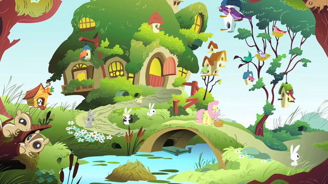 File:Fluttershy tending to animals S1E07.png