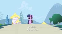 Twilight walking towards screen S01E01