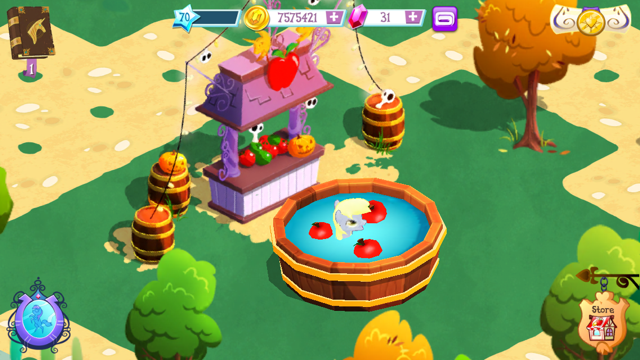 File:Derpy in apple bobbing pond MLP game.png
