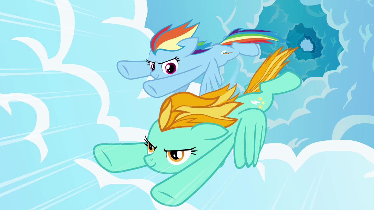 rainbow dash vs lighting - photo #27