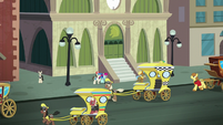 Manehattan train station exterior S5E16