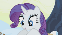Rarity remaking Twilight's nest S1E11