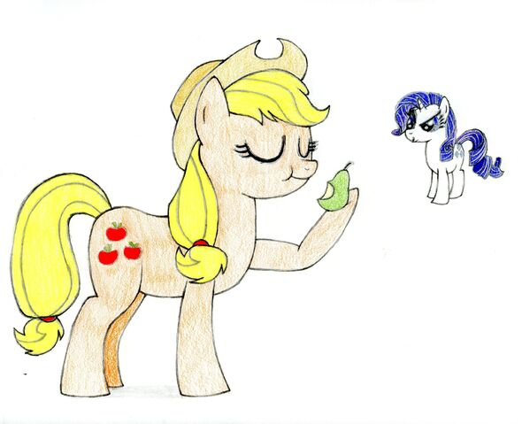 File:FANMADE- An Apple and her Pear.jpg