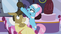 "Lotus Blossom ""once did a pony's hair during the ceremony"" S5E9"
