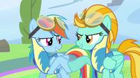Rainbow Dash hoof bump S3E7