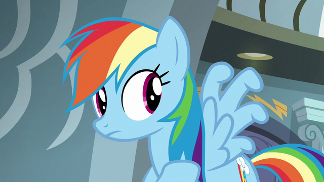 File:Rainbow curling her wing feathers S6E7.png