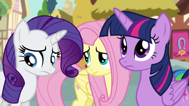 File:Rarity and Fluttershy feel guilty S4E18.png
