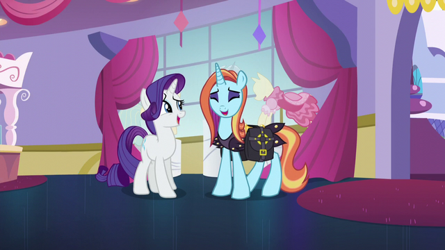 File:Rarity and Sassy Saddles laughing together S5E14.png