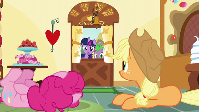 File:Pinkie and Applejack hear and see Twilight S5E22.png