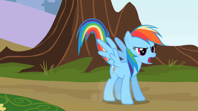 File:Rainbow Dash dropping down to the ground S2E07.png