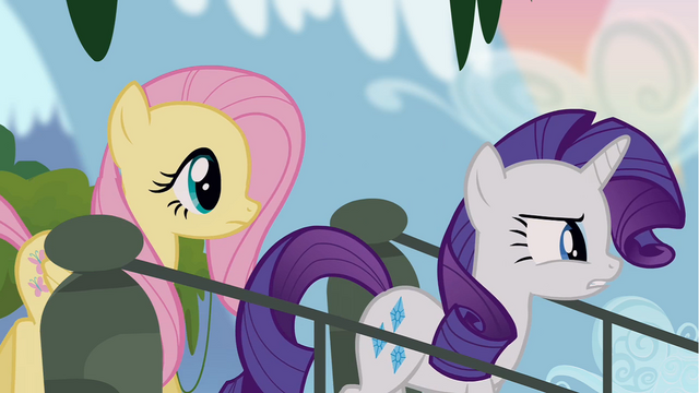 File:Rarity and Fluttershy stepping onto bridge S4E03.png