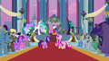Celestia and Chrysalis faceoff S02E26.png
