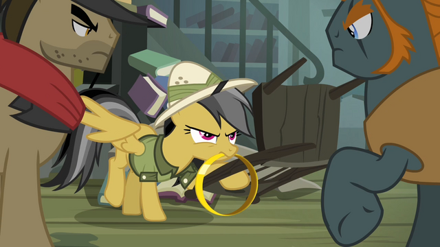 File:Daring Do holding chair S4E04.png