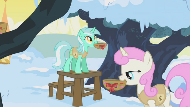 File:Lyra Heartstrings and Twinkleshine hanging bird nests S01E11.png