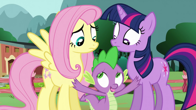 File:Spike interrupts Twilight and Fluttershy S3E05.png
