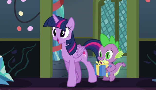 File:Twilight and Spike approach Starlight Glimmer S6E8.png