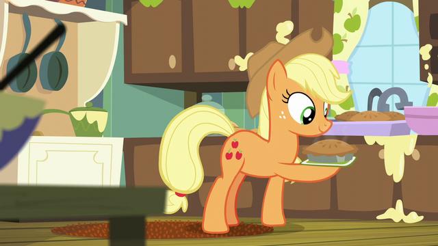 File:Applejack holding an apple pie S6E10.png