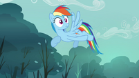Rainbow Dash watching Scootaloo spin S3E6