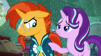 Sunburst looking a bit angry S6E2