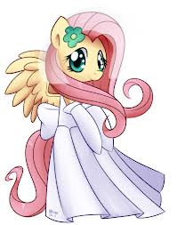 File:FANMADE Fluttershy wearing a wedding dress.jpg