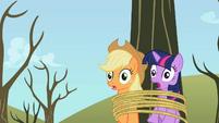 Twilight & Applejack hear scream S2E10