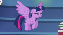 Ladder crashes behind Twilight Sparkle S6E21