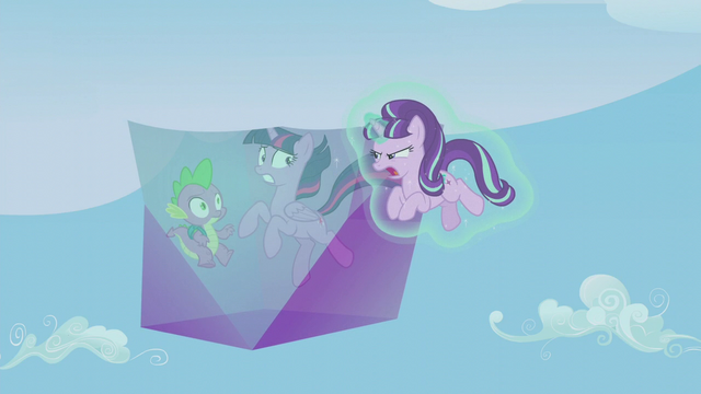 "File:Starlight mocks Twilight and her friends' ""cutie mark bond"" S5E25.png"