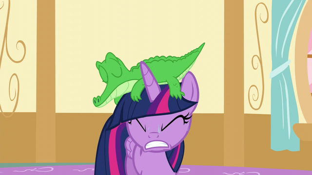 File:Gummy falls onto Twilight's head S5E11.png