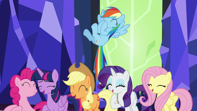 File:Mane Six laugh at Twilight's joke S5E22.png