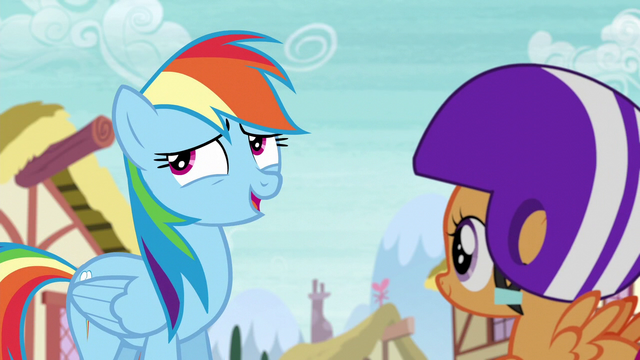 "File:Rainbow ""won't actually be performing"" S6E7.png"