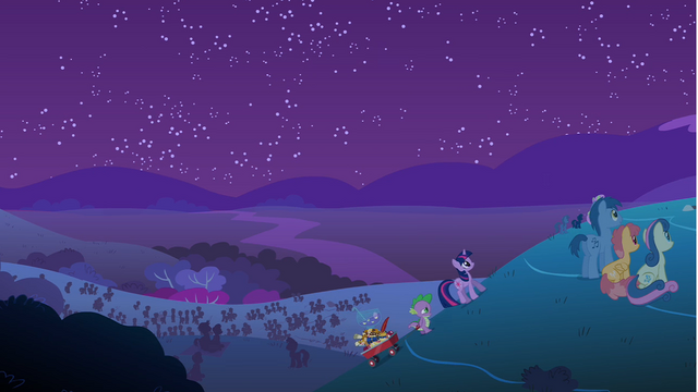 File:Spike and Twilight walking up the hill S1E24.png