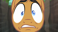 Quibble Pants looking scared S6E13