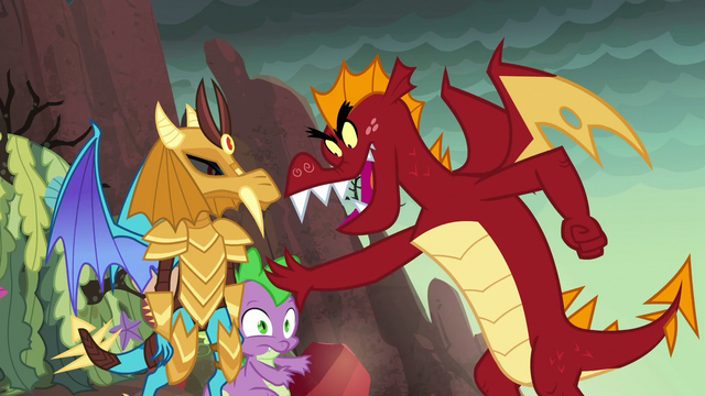 File:Garble shoves Spike aside S6E5.png