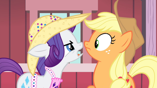 File:Rarity and Applejack look at each other S4E13.png