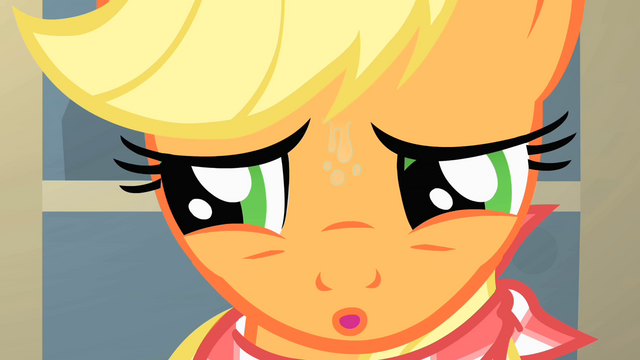 File:Applejack looking tense S01E22.png