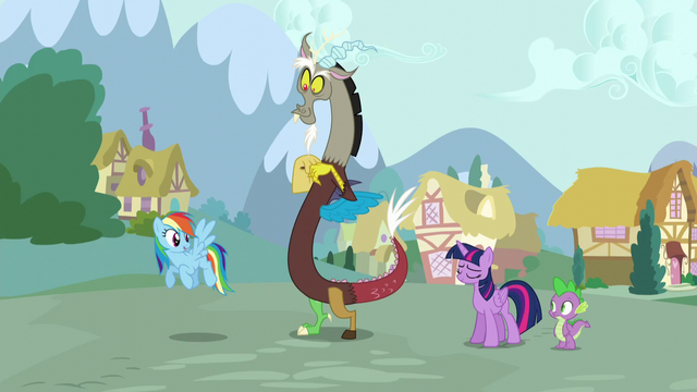 """File:Rainbow """"catch you later, Twilight!"""" S5E22.png"""
