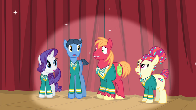 File:The Ponytones looking at Big Mac S4E14.png