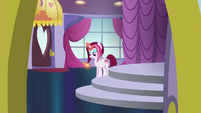 Posh Pony looking at pocketwatch S5E14